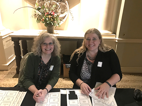 Leslie Shaw and Andrea Blassaras at Women & Investing Luncheon