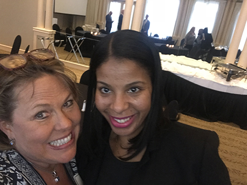 Women & Investing Luncheon Photo of Teia with Attendee
